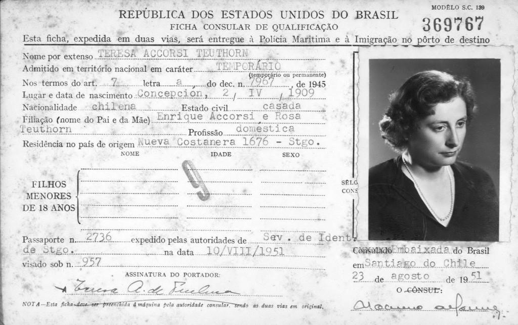 Pasaporte Agosto 1951