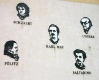 Literaturgiebel: Fünf Schriftsteller, die in Hohenstein-Ernstthal gewirkt haben.