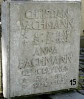 Grabplatte Bachmann-Corvinus