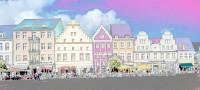 Marktnordseite zwischen Johann-Sebastian-Bach- und Knopfstraße