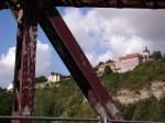 Schlösserblick von der rostigen Saalebrücke